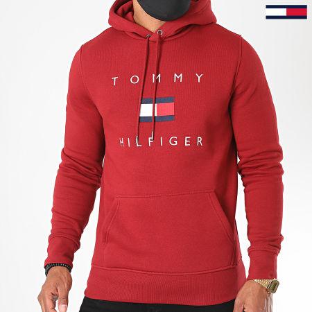 Tommy Hilfiger - Sweat Capuche Tommy Flag 4203 Bordeaux