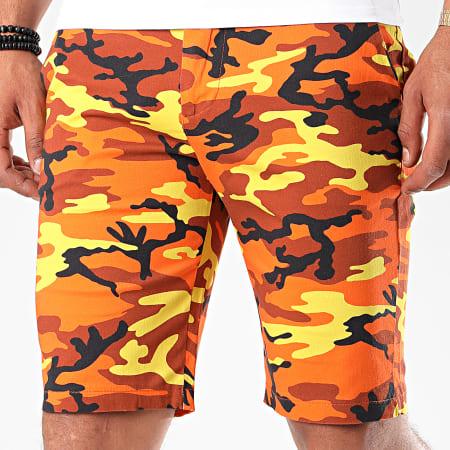 Uniplay - Short SH-04 Jaune Orange Camouflage