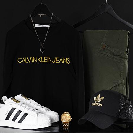 Calvin Klein - Tee Shirt Gold Institutional 7721 Noir Doré