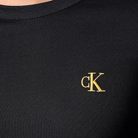 Calvin Klein - Tee Shirt Gold Monogram 7722 Noir Doré