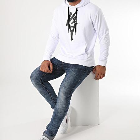 Da Uzi - Sweat Capuche Logo Blanc