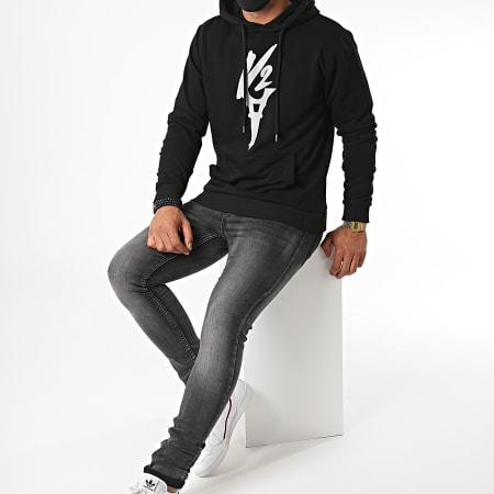Da Uzi - Sweat Capuche Logo Reflective Noir