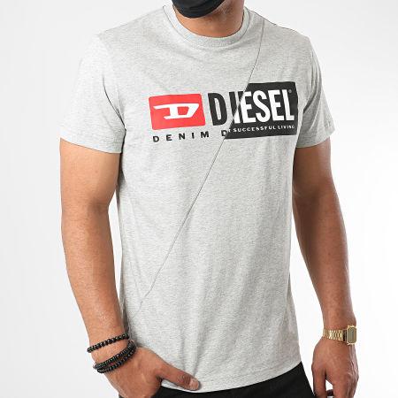 Diesel - Tee Shirt Diego Cuty 00SDP1-0091A Gris Chiné