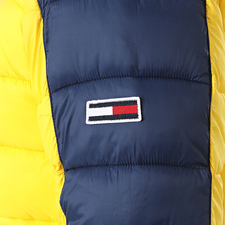 Tommy Hilfiger Jeans - Doudoune Colorblock 8432 Jaune Bleu Marine