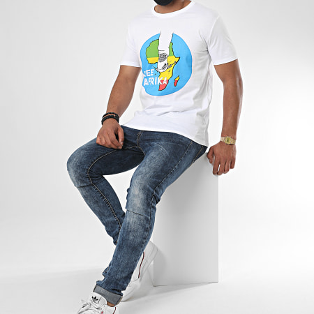 Y et W - Tee Shirt Free Afrika Blanc