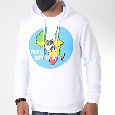 Y et W - Sweat Capuche Free Afrika Back Blanc