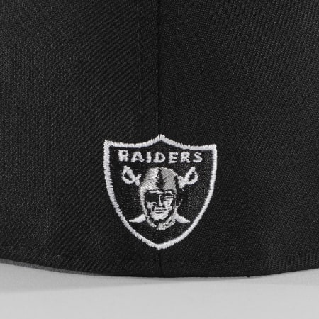 New Era - Casquette Fitted 59Fifty Leather Pin 60068526 Las Vegas Raiders Noir