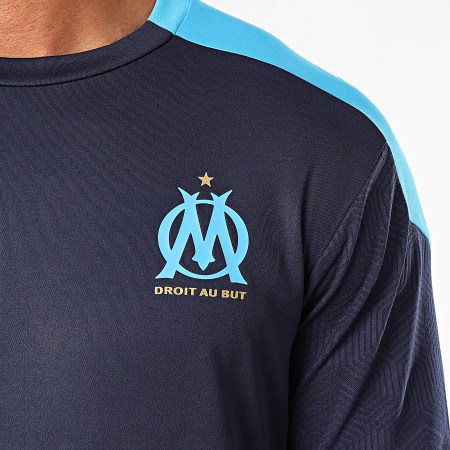 Puma - Tee Shirt De Sport OM Training Jersey 757686 Bleu Marine Bleu Clair