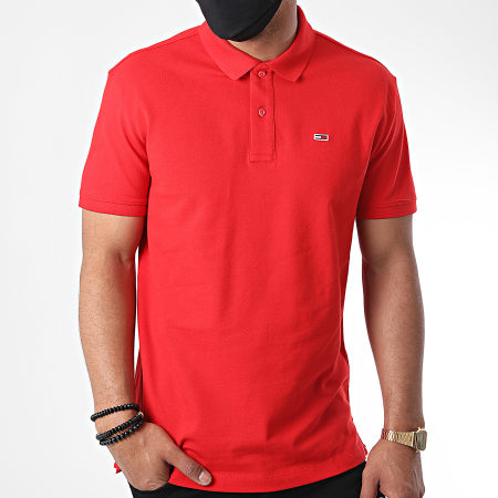 Tommy Jeans - Polo Manches Courtes Classics Solid 7196 Rouge