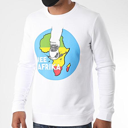 Y et W - Sweat Crewneck Free Afrika Back Blanc