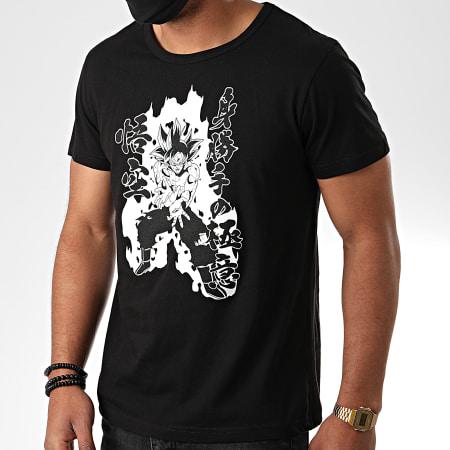 Dragon Ball Super - Tee Shirt Goku Kamehameha 568 Noir