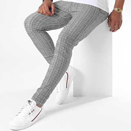 Frilivin - Pantalon Slim A Carreaux 1781 Gris