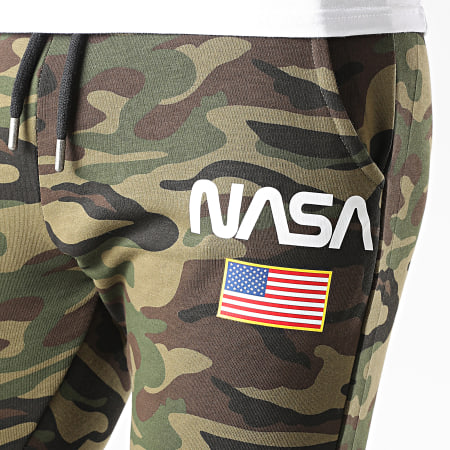 NASA - Pantalon Jogging Director Camo Vert Kaki