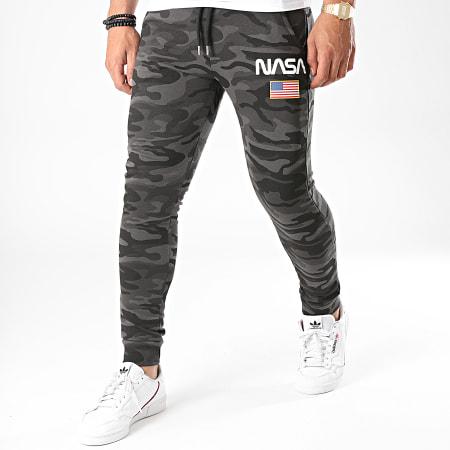 NASA - Pantalon Jogging Director Camo Vert Noir