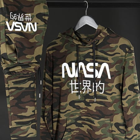 NASA - Pantalon Jogging Japan Camo Vert Kaki