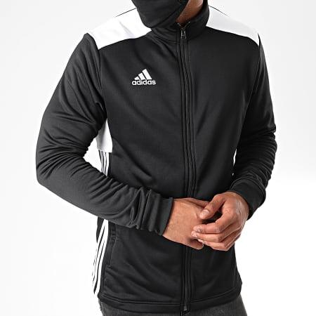 adidas - Veste Zippée Regi 18 CZ8624 Noir Blanc