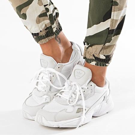 Girls Only - Jogger Pant Femme DJ2078 Beige Vert Kaki Camouflage