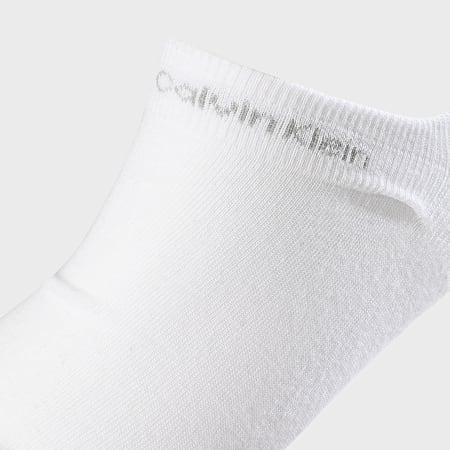 Calvin Klein - Lot De 3 Paires De Chaussettes Invisibles 1922 Blanc