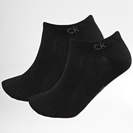 Calvin Klein - Lot De 2 Paires De Chaussettes Invisibles 1932 Noir