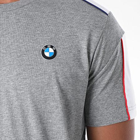 Puma - Tee Shirt A Bandes BMW Motorsport 597993 Gris Chiné