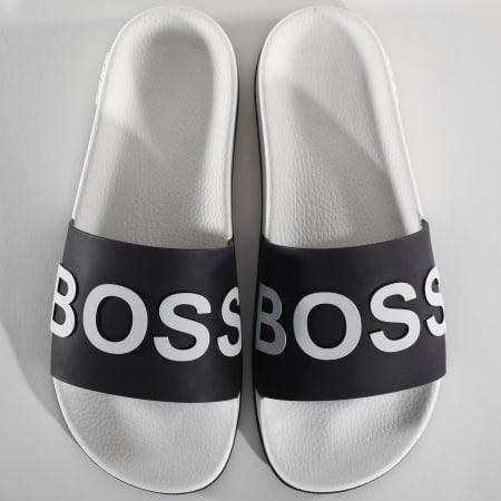 BOSS By Hugo Boss - Claquettes Bay 50432591 Blanc Noir