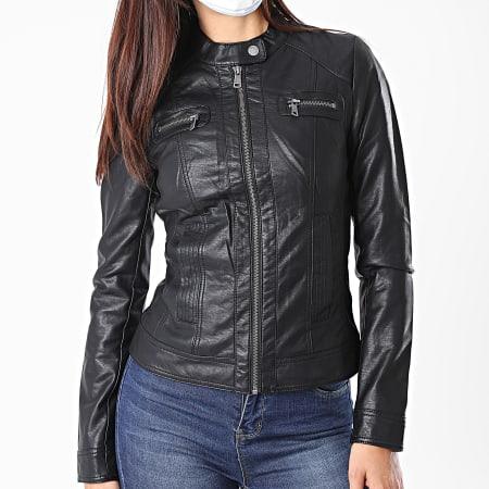 Only - Veste Biker Femme Bandit Noir