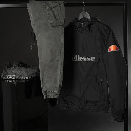 Ellesse - Coupe-Vent Col Zippé Acera SXG09906 Noir Réfléchissant