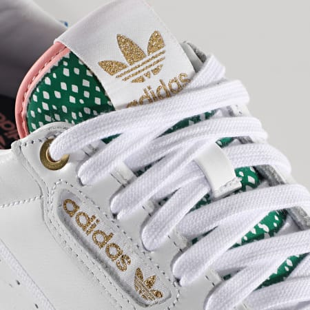 adidas - Baskets Femme Continental 80 FW2534 Footwear White Gold Metallic Glow Pink