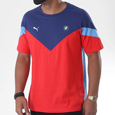 Puma - Tee Shirt BMW Motorsport MCS 597998 Bleu Rouge
