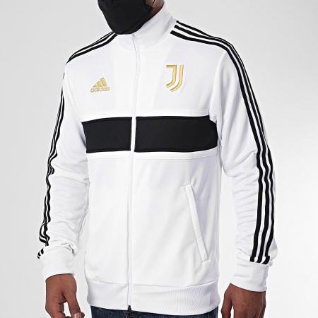 adidas - Veste Zippée A Bandes Juventus FR4221 Blanc Noir Doré