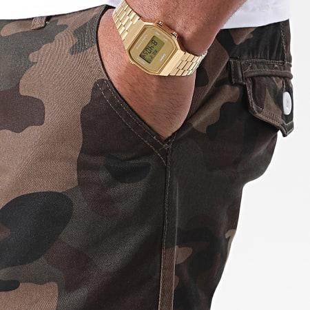 Brave Soul - Short Jean Camouflage Smith Marron