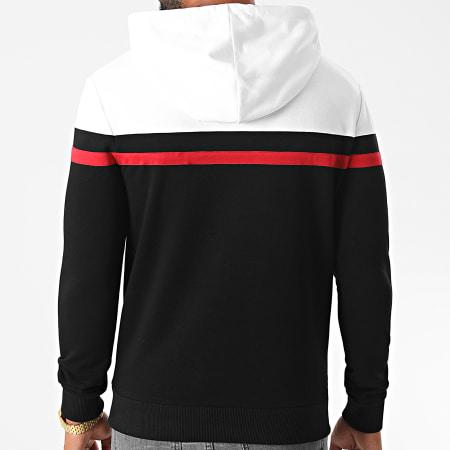 LBO - Sweat Capuche Tricolore 1274 Blanc Rouge Noir