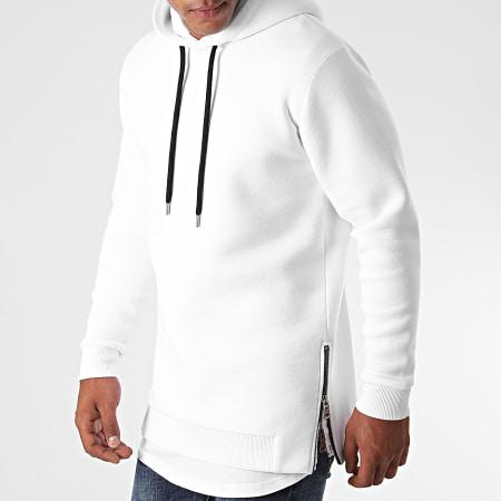 LBO - Sweat Capuche Oversize Zip 1291 Blanc