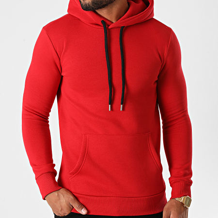LBO - Sweat Capuche 1295 Rouge