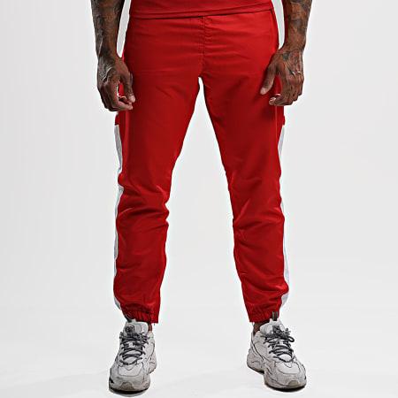 NI by Ninho - Pantalon Jogging A Bandes Uzi PT029 Rouge