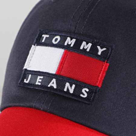 Tommy Jeans - Casquette Femme Tricolore Heritage 8577 Bleu Marine Rouge Blanc