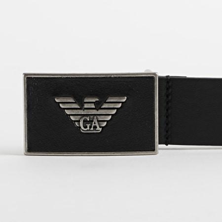 Emporio Armani - Ceinture En Cuir Plate Belt Y4S196 Noir