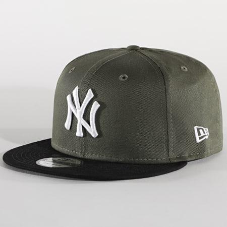 New Era - Casquette Snapback 9Fifty Colour Block 12122744 New York Yankees Vert Kaki