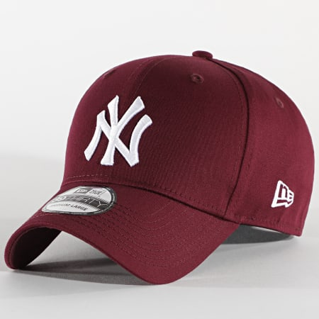 New Era - Casquette Fitted 39Thirty League Essential 12523891 New York Yankees Bordeaux