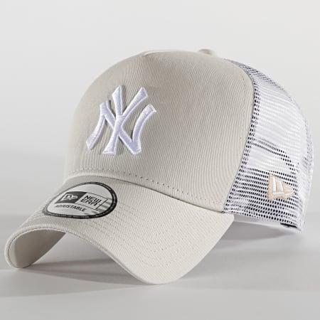 New Era - Casquette Trucker 9Forty Jersey 12523893 New York Yankees Beige