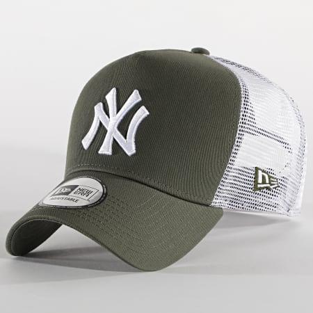 New Era - Casquette Trucker 9Forty Jersey 12523894 New York Yankees Vert Kaki