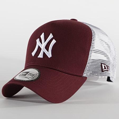 New Era - Casquette Trucker 9Forty Jersey 12523893 New York Yankees Bordeaux