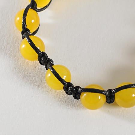 California Jewels - Bracelet Boule Noir Jaune