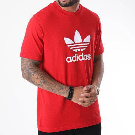 adidas - Tee Shirt Trefoil GD9912 Rouge