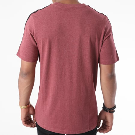 adidas - Tee Shirt A Bandes Essential 3 Stripes GD5372 Bordeaux Chiné