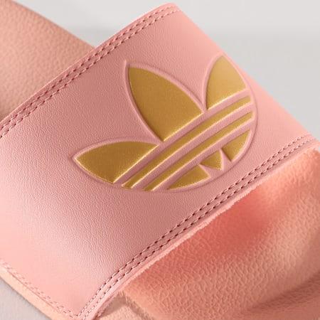 adidas - Claquettes Femme Adilette Lite FW0543 Rose Doré