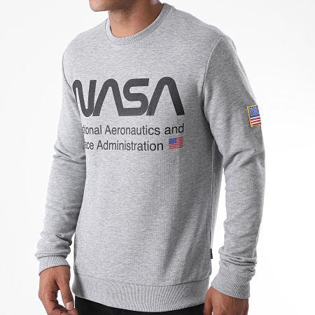 Only And Sons - Sweat Crewneck NASA Gris Chiné