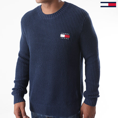 Tommy Jeans - Pull Tommy Badge 8808 Bleu Marine