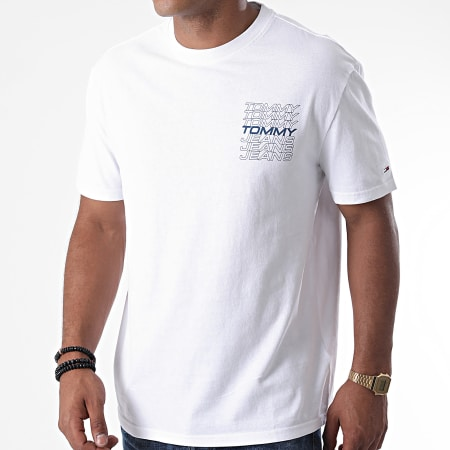 Tommy Jeans - Tee Shirt Repeat Logo 8304 Blanc