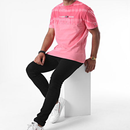 Tommy Jeans - Tee Shirt Tie And Dye 8334 Rose